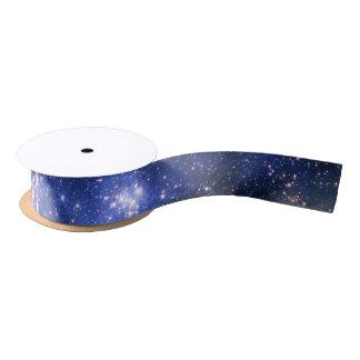 Falln青いEmbrionicの星 サテンリボン