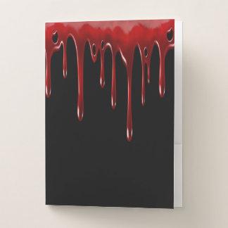Falln Blood Drips Black ポケットフォルダー