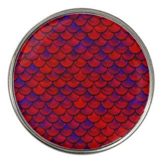 Falln Red and Purple Scales ゴルフボールマーカー