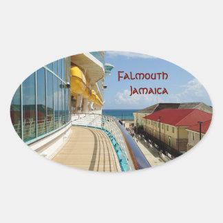 Falmouthの波止場の習慣 楕円形シール