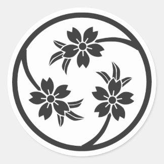 [Family Crests] Cherry tree ラウンドシール
