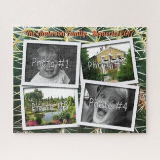 Family Memories 4 x Custom Photos Challenge Cactus ジグソーパズル