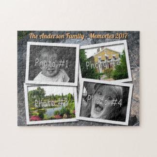 Family Memories 4 x Custom Photos Challenge Rock ジグソーパズル