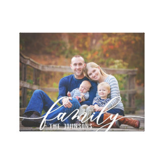 Family Photo Canvas キャンバスプリント