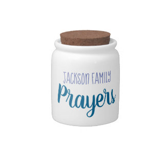 Family Prayers Prayer Jar キャンディー皿