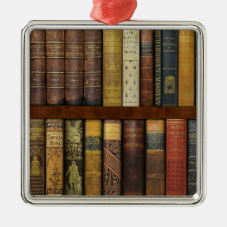 Fancypantaloons' Instant Library Bookcase氏の シルバーカラー正方形オーナメント