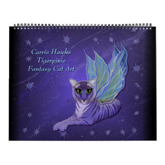Fantasy Cat Art Calendar. Fairy Cats カレンダー