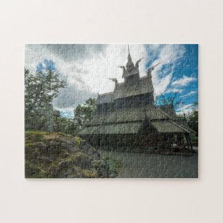 Fantoftの横木教会、ベルゲン、ノルウェー ジグソーパズル