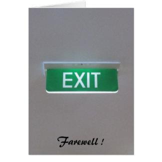 farewelled出口 カード