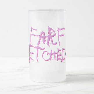 Farfは曇らされたピンクおよび紫色をエッチングしました フロストグラスビールジョッキ
