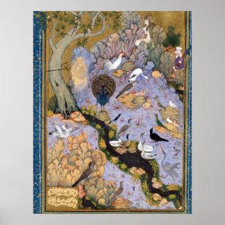 FaridのAl喧騒の「花香油鳥の広場 ポスター
