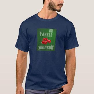 Farkleあなた自身は行きます Tシャツ
