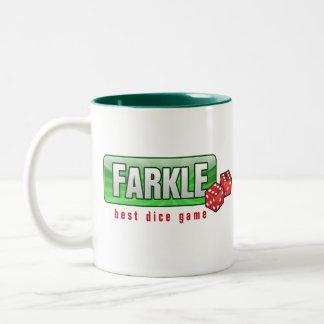 FARKLE -最も最高のなサイコロのゲーム ツートーンマグカップ
