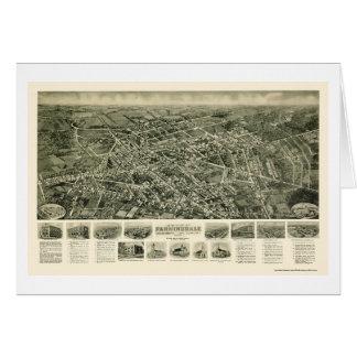 FarmingdaleのNYのパノラマ式の地図- 1925年 カード