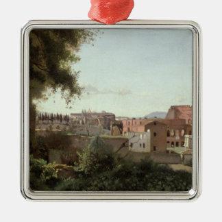 Farneseの庭からのColosseumの眺め メタルオーナメント