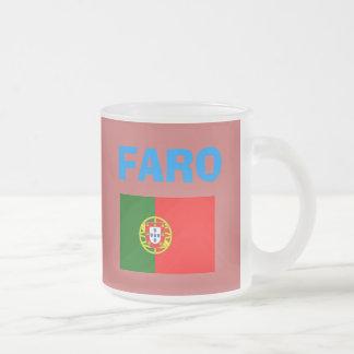 Faro* (ポルトガル)空港食糧農業委員会コードマグ フロストグラスマグカップ