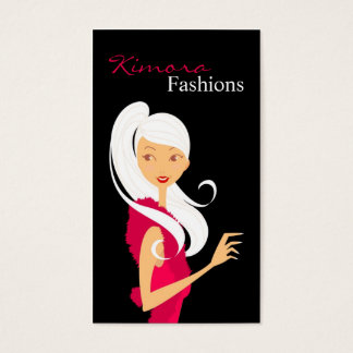 Fashionestaのファッションのベクトル売子の名刺 名刺