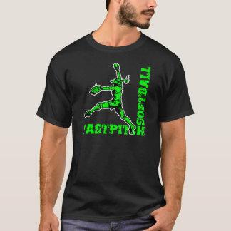 Fastpitchのコーナー、ネオンの緑 Tシャツ