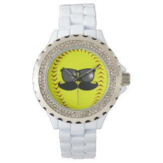 Fastpitchの口ひげの腕時計 腕時計