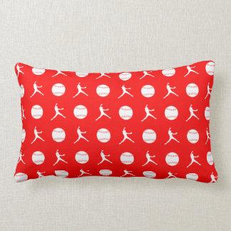Fastpitchの赤い枕 ランバークッション