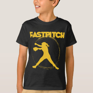 Fastpitchの金ゴールド Tシャツ