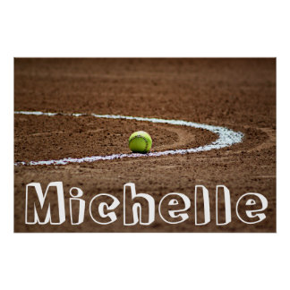 Fastpitch Softball Player Custom Name/Text Poster ポスター