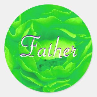 Father Bright Green Rose Sticker Sticker