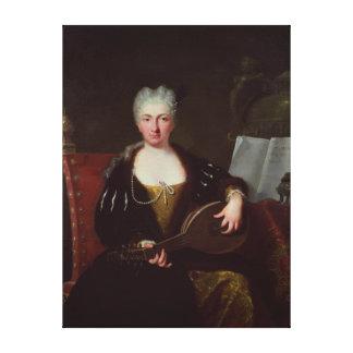 Faustina Bordoni、Handelの歌手のポートレート キャンバスプリント