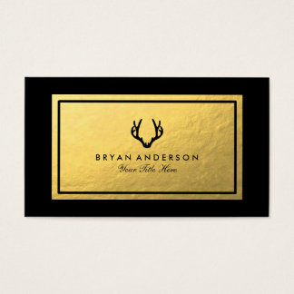 Faux Gold Antler Business Card 名刺