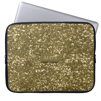 Faux Gold Glitter Laptop Sleeve ラップトップスリーブ