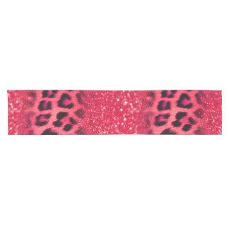 Faux Pink Glitter Leopard Spots For Teen Girls ショートテーブルランナー