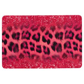 Faux Pink Glitter Leopard Spots For Teen Girls フロアマット