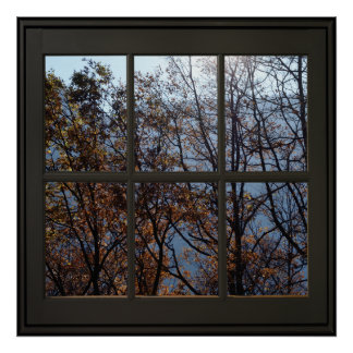 Faux Window Illusion Poster 24x24 Black ポスター