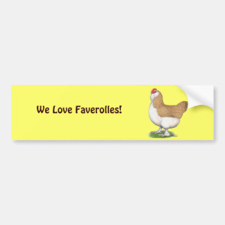 Faverolleの雌鶏 バンパーステッカー