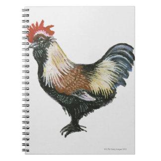 Faverollesのサーモンピンクの鶏 ノートブック
