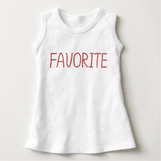 「favoriteが付いている赤ん坊の袖なしの服 ドレス