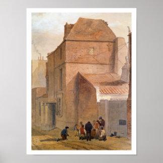 Fawlerのロッジ、Islington、ロンドン(w/c紙で) ポスター