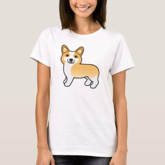 Fawn Cute Cartoon Pembroke Welsh Corgi Dog Tシャツ
