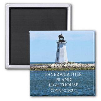 Fayerweatherの島の灯台、コネチカット マグネット