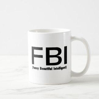 FBIのおもしろいで美しい知性がある コーヒーマグカップ
