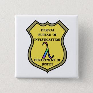FBIのバッジ 5.1CM 正方形バッジ