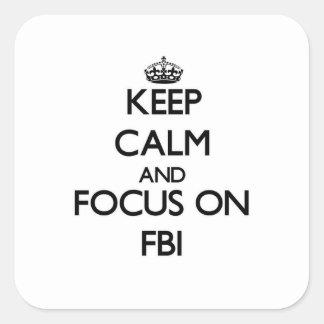 Fbiの平静そして焦点を保って下さい スクエアシール