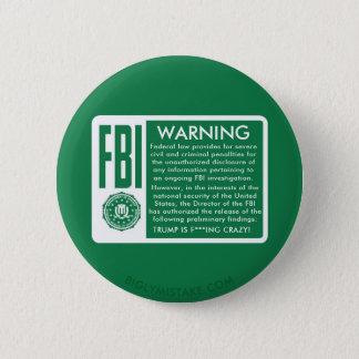 FBIの警告! 切札は熱狂するなFの*** INGです! 5.7CM 丸型バッジ