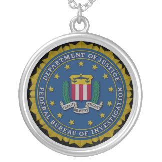 (FBI) FBI シルバープレートネックレス