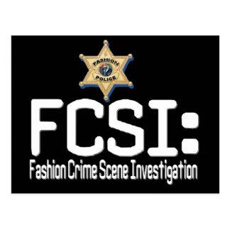 FCSI:  ファッションの犯罪現場の調査 ポストカード