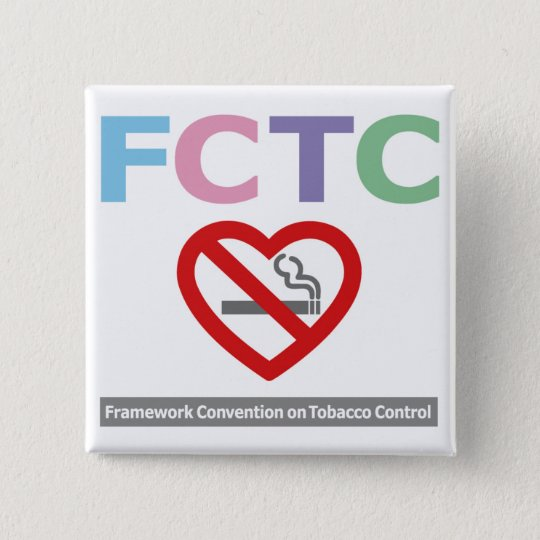 FCTC_badge no smoking 5.1cm 正方形バッジ