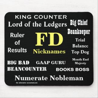 FDはおもしろいな財政ディレクターを愛称で呼びますNames マウスパッド