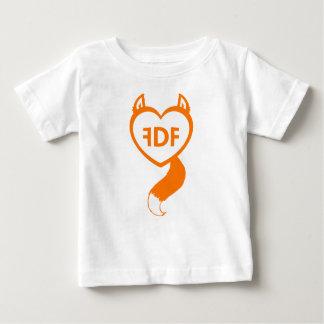 FDFの曖昧なハートのベビーのティー ベビーTシャツ