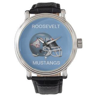 FDRのムスタングの腕時計-コロンビアの青Bckgrnd 腕時計
