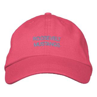 FDRのムスタングのAdjstbleの帽子-ピンク 刺繍入りキャップ